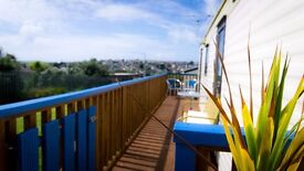 Holiday Caravan in Trenance Holiday Park Newquay Cornwall