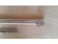 Brushed Steel curtain pole