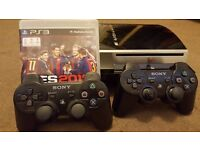80gb PS3 + PES 2017 + 2 Controllers + Cables