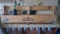 Upcycled pallet wine rack rustic