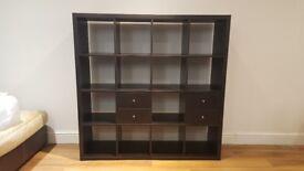 Ikea Kallax Shelving Unit 4x4 PLUS 6 inserts [Drawers and doors]