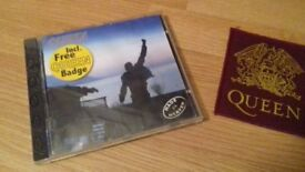 QUEEN CD, VIDEO AND POCKET PATCH
