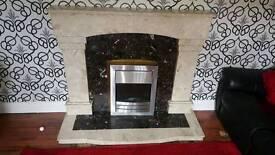 Soild marble fireplace