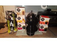 DOLCE GUSTO COFFEE MAKER WITH POD HOLDER AND LOTS OF PODS £60