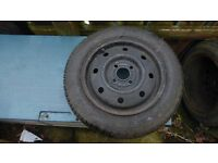 "Rover 100/Metro Steel "" spare Wheel and Tyre"