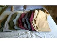 10 pairs gap, fatface etc Men's trousers 36x33, 34x33