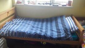 SOLID SINGLE BED FRAME