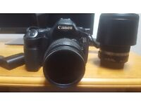 Canon 60d with two lenses + accessories