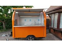 Mobile Catering Trailer Burger Van Sweets Trailer Hot Dog Ice Cream Cart 2300x1650x2300