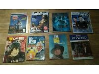 50 x dr who collection vhs videos annuals , game , jigsaw , magazines ,books ,records
