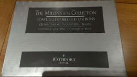 Waterford Crystal Millennium Double Old Fashioned Toasting Glasses