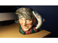 Large Toby Character Jugs Royal Doulton- The Fortune Teller,The Falkoner (1959), The Poacher(1954)