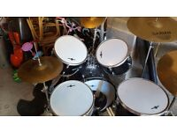 Full drum kit and seperate zildjian cymbal
