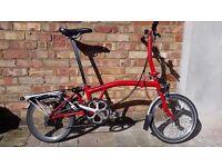 Brompton S6R 6 Speed Red Folding Bike - 2015