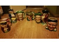 Beautiful antique 8 men cups decorations / ornaments SE8 £50