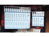 ALESIS MULTIMIX 16 USB AND AN ALESIS MULTIMIX 6 FX MIXER