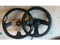 Momo steering wheel and boss for civic