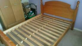 King-size solid wood bed frame