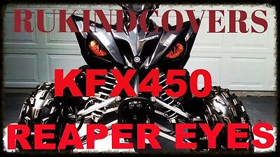 "REAPER  EYES Headlight Covers Kawasaki  KFX 450 3"" round"