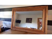 Beautiful New Oak Mirror