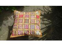Hippy gypsy ethnic sparkle cushion pinks