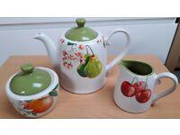 Arthur wood teapot , milk jug & sugar bowl