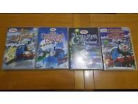 4 Thomas the Tank Engine Christmas DVDs