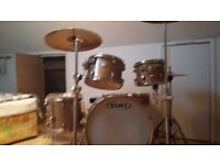 "Mapex Meridian Birch 22"" Fusion Drum Kit in Limited Edition Champagne Sparkle Finish"