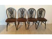 Set of Four Ercol Wheelback Chairs