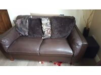 Sofas 3 and 2 piece leather