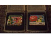 GameGear Games (Wonderboy + Simpsons)