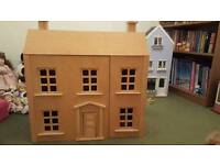 Unique hand made wooden dolls house
