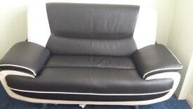 2 seater' leather sofa