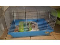 Small hamster cage like new with bedding
