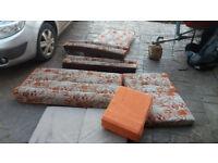 caravan cushions for sofas x 2 and cushions x 6