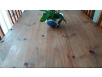 Farm house table and 6 chairs for sale