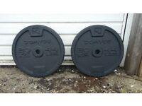 Domyos 20kg Plates (Standard bar) Pair