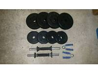 Dumbbells and Grip Trainers