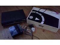 sky+ HD box, remote control, Sky modem router, mini wireless connector boxed