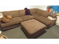CORNER SOFA - BIG AND CONFORTABLE with footstool almost new