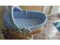baby moses basket&stand
