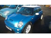 mini cooper s 2003 registration, 1600cc supercharged , 91,000 miles, new mot