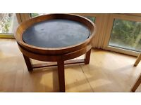 Antique marble inlay Mahogany table