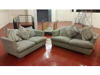Dfs fabric grey 3&2 seater sofas ** £125 free delivery