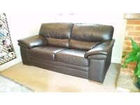 Leather sofa, two-seater, very comfortable