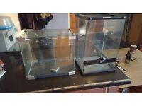Two Glass Vivarium type tanks
