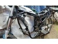 HONDA VARADERO 125 ROLLING CHASSIS + V5 £350. MANY OTHER PARTS AVAILABLE: ENGINE NOW SOLD