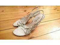 Size 6 Silver Kitten Heel Shoes