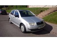 SKODA FABIA 1.4 PETROL, LOW MILAGE, LONG MOT.