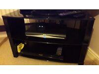Superb Black Glass TV Stand